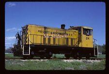 Original Slide Prescott & North Western GE70T 24 In 1985 At Prescott AR