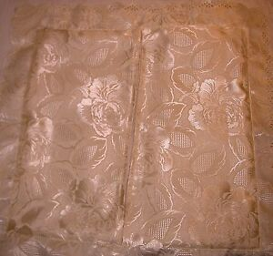 VINTAGE + NEW CUSHION COVER - BACK ZIPPER -POLYESTER SCALLOPED EDGE