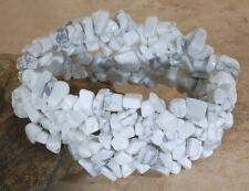 GENUINE HOWLITE DESIGNER BRACELET - 6 INCHES (UNSTRETCHED)