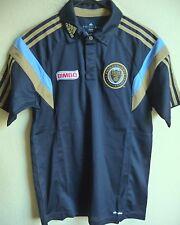 MLS Adidas Philadelphia Union Soccer Polo Shirt L NWT 1902A