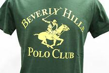 BEVERLY HILLS polo club T-Shirt Uomo Manica Corta Cotone Colore Verde Tg M