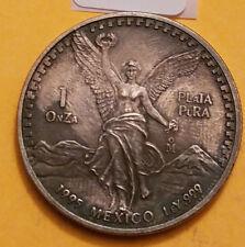 1995 1 OZ SILVER MEXICAN LIBERTAD - .999 FINE SILVER -  H-21