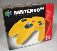 Genuine Yellow N64 Controller Nintendo 64 Boxed