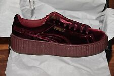 BRAND NEW Size 9 US Women's Puma Creeper Rihanna Fenty bag purple burgundy