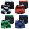 New Mens Tokyo Laundry Newburgh 2Pack Cotton Striped Boxer Shorts Set Size S-XXL