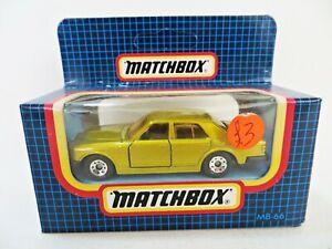 MATCHBOX MB66 'ROLLS ROYCE SILVER SPIRIT'. GOLD. 66. MIB/BOXED.