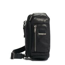 TUMI 0932399DL Kelley Sling 100% Cowhide Leather Men's Black NWT