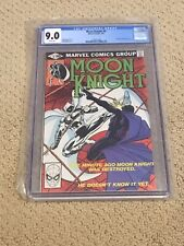 Moon Knight 9 CGC 9.0 White Pages (Classic Cover!!) CGC #009
