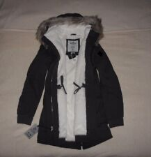 Womens Hollister by Abercrombie &Fitch Fur Hoodie Water Resistant Jacket Size M