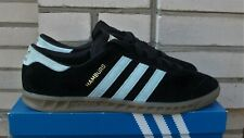Adidas Hamburg S74833 Trainers in Core Black/Blue/Vintage White,US11 UK10.5