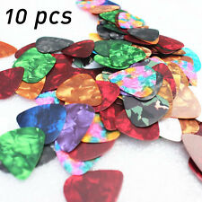 10Pcs Acoustic Guitar Plectrum Various Pick Musical Bass Ukulele Parts