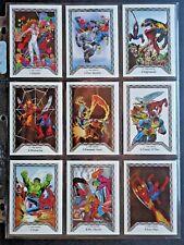1990 COMIC IMAGES *SPIDER-MAN TEAM-UP* COMPLETE 45 CARD SET + HEADER NM/MT