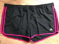 NWT Adidas GT M10 ClimaLite Running Athletic Shorts Black/BlastPink XL (28R)
