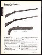 2003 LYMAN Great Plains, Hunter Muzzleloader Black Powder Rifle and Pistol AD