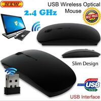Slim 2.4 GHz USB Optical Wireless Cordless Scroll Mouse For PC Mac Laptop iMac