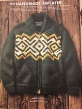 RARE Men's Filson Wool Handmade Sweater Cardigan Green Zip-up Cowichan XL NWT