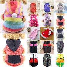 Pet Clothes Puppy Dogs Cat Hoodies Pullover Sweater Padded Jacket Coat Costume