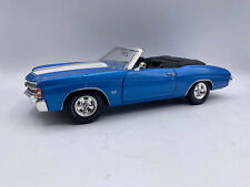 Maisto 1971 Chevrolet Chevy Chevelle Convertible Blue Color 1/18 Scale Diecast