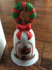 Avon Christmas Holiday 1995 Bell Wreath Santa checking list red and green