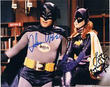 """BATMAN Adam West 1928-2017 & Yvonne Craig 1937-2015 autographs 8""""x10"""" photo"""