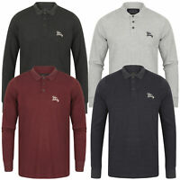 Mens Long Sleeved Polo T-Shirt Tokyo Laundry COSENZA Jersey Pique Golf Top New