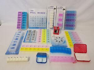Weekly Daily Pill Box Tablet Organiser Travel Meds Storage Dispenser 7 Day Week