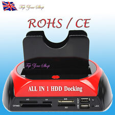 "All in 1 USB Dual SATA IDE 2.5"" 3.5"" Hard Disk Drive HDD Dock Station Caddy Case"