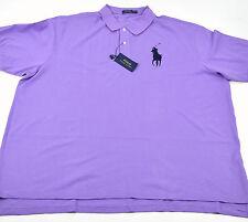 POLO Ralph Lauren Men's Purple Classic Fit Pique Mesh Big Pony Shirt 3X BIG NWT