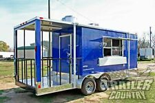 New 2021 7X20 Enclosed Mobile Kitchen Concession Food Vending Bbq Porch Trailer