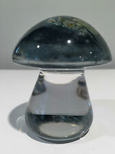 Hadeland Norway Scandinavian Glass Mushroom by Pilz Severin Broerby Signed