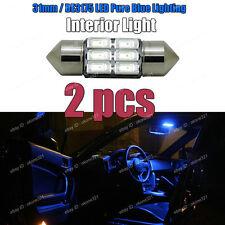 2-pc 5730 LED Blue Interior Inside Map / Dome Light  Bulb 31MM DE3175 DE3022 E5