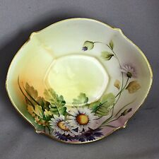 Antique Vintage NIPPON Hand Painted BOWL DAISIES FLOWERS Footed Cabinet Candy