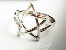Pagan Wiccan Pentagram Ring Satanic Occult Stainless Steel 316L Size 10