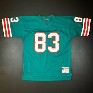 100% Authentic Mark Clayton Mitchell Ness 1984 Dolphins Legacy Jersey Size 44 L