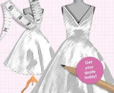 DESIGN service your own BESPOKE CUSTOM wedding bridesmaid prom dress UK seller