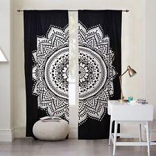 Indische Ombre Mandala Baumwollvorhänge Fenster Hängematt Tür Hängen Vorhang-Set
