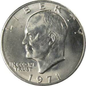 1971 D Eisenhower Dollar BU Uncirculated Mint State Clad IKE $1 US Coin