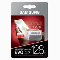 Samsung 128GB EVO Plus Grade 3 MicroSDXC Memory Card Class 10 R100/W90 MC128GA