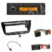 TR7412UB-OR Radio + Fiat Doblo ab 2012 1-DIN Blende piano-black + ISO-Adapter