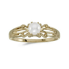 10k Yellow Gold Cultured Freshwater Pearl Ring (CM-RM1058-06)