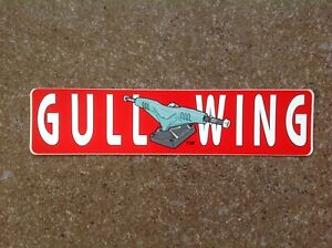 One Authentic Vintage 70's Gullwing Skateboard Sticker, Color Red/White, Truck