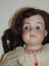 Antique Armand Marseille 370 AM 3 DEP 570 Antique Porcelain Doll / Leather Body