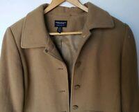 American Eagle AEO Womens Tan Beige Brown Wool Peacoat Jacket Size Large Coat L