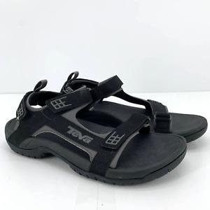Teva Mens Minam Sandals Size 11 Black Sport Athletic Hook and Loop Adjustable