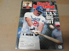 Kirk Gibson Autographed Sports Illustrated magazine March 7, 1988  (GAI)