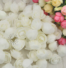 25/50... ROSENKÖPFE WEISS ❀❀ Kunstrose Rosenblüten Foam Rose Deko Floristik