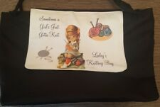 Knitting Borsa... Personalizzato Doppio Manico Tote/Shopping/Borsetta... regalo di Natale Ideale