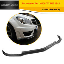 Carbon Fiber Front Lip Bumper Spoiler Chin fit   for Mercedes Benz W204 C63 AMG