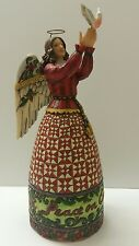 """Jim Shore 2006 Angel Figurine """"May Peace Fill Your Heart"""" *BEAUTIFUL SENTIMENT*"""