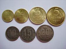 Russland UdSSR 1 2 3 5 10 15 20 Kopeken 1947 Stalin Rubel Sowjetunion